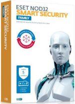 Eset NOD32 Smart Security Family универсальная лицензия на 1 год на 5 устройств (коробка)