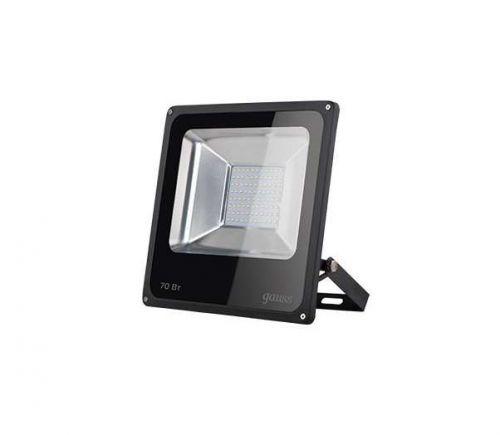 Прожектор светодиодный Gauss 613100370 LED 70W 4600lm IP65 6500К черный