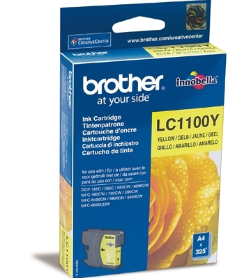 Картридж Brother LC-1100Y для DCP-385C/DCP-6690CW/MFC-990CW жёлтый, 325 pages
