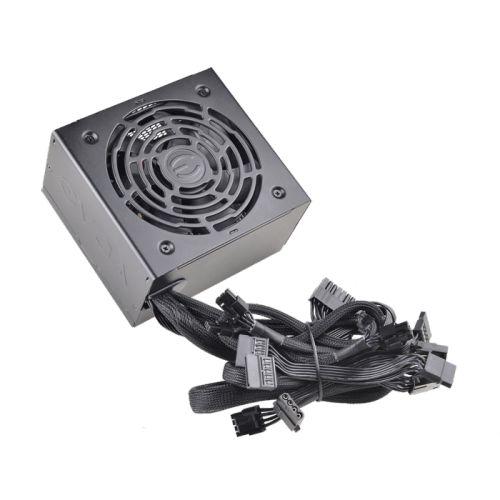 Блок питания ATX EVGA 500 BR 100-BR-0500-K2 500W, active PFC, 80+ Bronze, 120mm fan RTL блок питания atx accord acc 500w 80br 500w 80plus bronze 24 4 4pin 120mm fan rtl