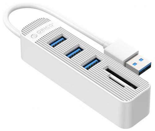 Концентратор USB 3.0 Orico TWU3-3AST-WH 3*USB 3.0, USB 3.0 in, SD/TF, белый