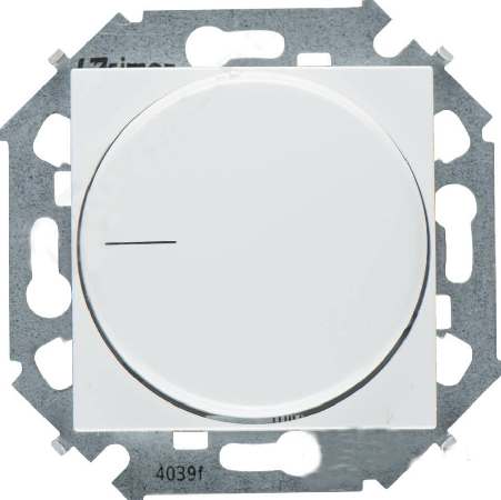 Светорегулятор Simon 1591796-030 Simon 15 Белый поворотный для регулируемых LED ламп 230В, 5-215Вт,винт.зажим