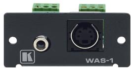 Переходник Kramer WAS-1 (G) s-Video+разъём аудио 3.5мм > клеммный блок