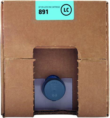 Картридж HP 3M 891 G0Y76A светло-голубой (10л) для HP Latex 3600, 3100, 3500, 3800
