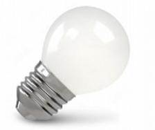 Лампа светодиодная X-flash 48090 XF-E27-FLM-P45-4W-2700K-230V Е27, 4 Вт, 2700 К, 220 В, 400 Лм, матовая колба - шар лампа светодиодная x flash 48014 xf e14 fl p45 4w 4000k 230v е14 4 вт 4000 к 220 в 460 лм матовая колба шар