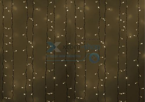 Гирлянда NEON-NIGHT 235-115 светодиодный дождь 2х1,5м, постоянное свечение, белый провод, 230 В, диоды белые, 360 LED