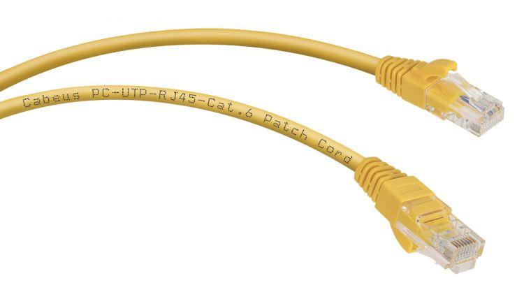 Cabeus PC-UTP-RJ45-Cat.6-0.5m-YL