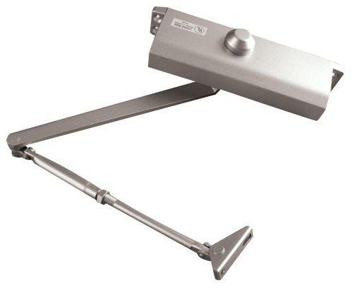 Доводчик Oubao E-603 (серебро) для дверей весом до 75 кг, двухскоростной, установочный размер 168х19 мм