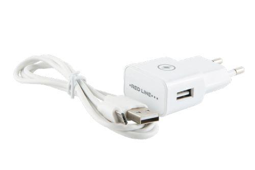 Фото - Зарядное устройство сетевое Red Line NT-1A УТ000013625 1 USB, 1A + кабель MicroUSB, белый сетевое зарядное устройство deppa ultra 1a белый 11301