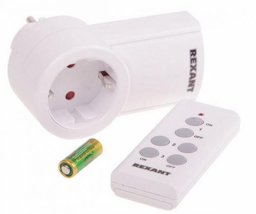Розетка Rexant 10-6020 радиоуправляемая c пультом RX-001 (один пульт, одна розетка)