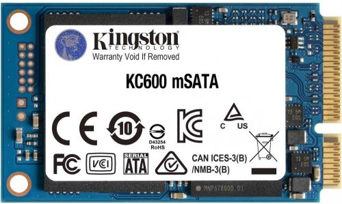 Накопитель SSD mSATA Kingston SKC600MS/512G KC600 512GB SATA 6Gb/s 3D TLC 550/520MB/s MTBF 1M