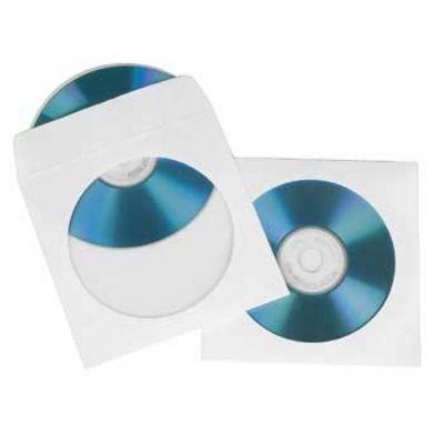 Конверт для CD/DVD HAMA H-51179 00051179 бумажные с прозрачным окошком, 25 шт., белый