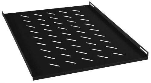 Полка Cabeus RA-J018-FC-700-BK перфорированная глубиной 700 мм для открытых стоек, цвет черный (RAL 9004)