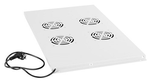 Вентиляторный модуль Cabeus TRAY-100 с 4-я вентиляторами для установки в напольные шкафы серии SH-05C, ND-05C глубиной 1000мм шкафы в лобне