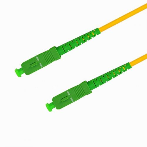 Патч-корд волоконно-оптический TELCORD ШОС-3.0-SC/A-SC/A-SM-20м-LSZH-YL simplex SC/APC-SC/APC, SM 9/125 (G652D), 3.0 мм, LSZH, 20м