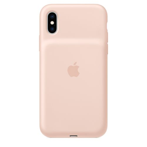 Чехол Apple Smart Battery Case MVQP2ZM/A для iPhone XS, pink sand
