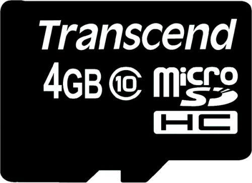 Карта памяти 4GB Transcend TS4GUSDC10 MicroSDHC class 10