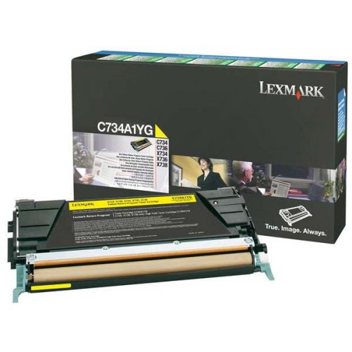 Картридж Lexmark C736H1YG C736 Yellow High Yield Return Program Print Cartridge (10K)