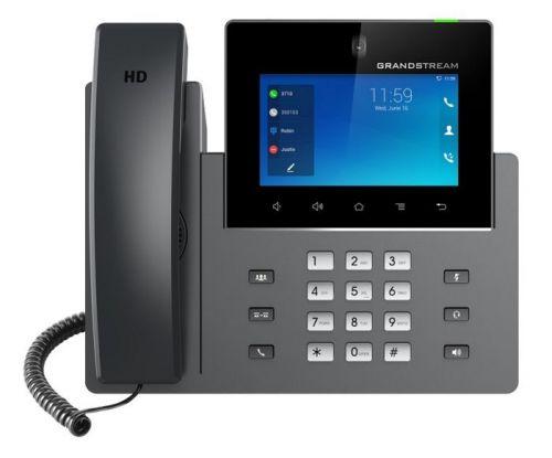 "Телефон VoiceIP Grandstream GXV-3350 SIP, 16 линий, Ethernet 10/100/1000, 5"" (1280×720) сенсорный экран, Wi-Fi, Android 7.0, PoE/PoE+"