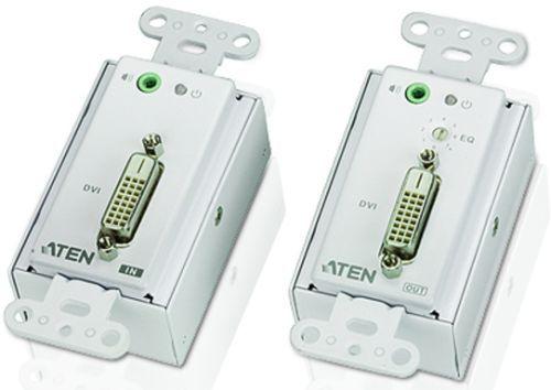 Удлинитель Aten VE606-AT-G DVI+AUDIO, 60 м, 2xUTP Cat5e, DVI-D+2xRJ45+MINIJACK, F, без шнуров, 1xБП 220> 9V
