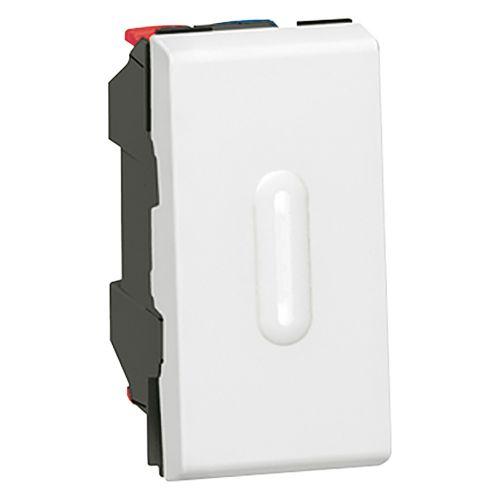Выключатель Mosaic Legrand 77002 для управления освещением с двух мест 10АХ с подсветкой (1 модуль) белый