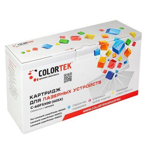Картридж Colortek CT-60F5X00 для принтеров Lexmark LaserPrinter-MX510, LaserPrinter-MX511, LaserPrinter-MX611, черный, 20000 стр. блок формирования изображения lexmark для ms310 ms410 ms510 ms610 mx310 mx410 mx510 mx511 mx611 lrp 60k