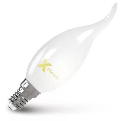 Лампа светодиодная X-flash 48854 XF-E14-FLM-СA35-4W-4000K-230V E14, 4 Вт, 4000К, 220 В, 430 Лм, матовая колба, белый свет (свеча) лампа светодиодная x flash 48014 xf e14 fl p45 4w 4000k 230v е14 4 вт 4000 к 220 в 460 лм матовая колба шар