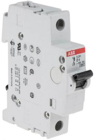Фото - Автоматический выключатель ABB 2CDS251001R0061 S201 1P 6A (D) 6kA автоматический выключатель abb 2cds251103r0104 s201 1p n 10а с 6ка