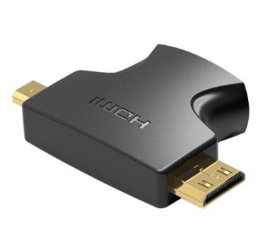 Переходник Vention AGFB0 HDMI 19F/Mini HDMI+Micro HDMI