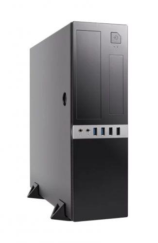 Корпус mATX Foxline FL-203-TFX300S черный, 300W, 2xUSB 3.0, 2xUSB 2.0, audio