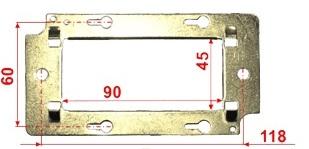 Суппорт Lanmaster LAN-MF45x90 металлический для установки 45х90