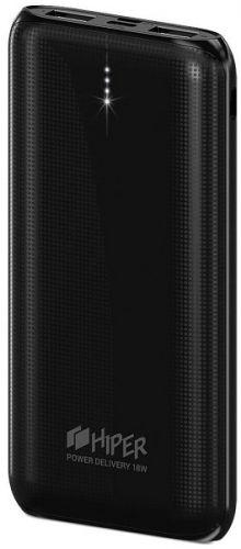 Аккумулятор внешний универсальный HIPER RPX20000 Li-Pol 20000 mAh QC 3A+2.4A 2xUSB 1xType-C, черный недорого