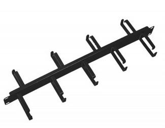Кабельный организатор ЦМО ГКО-1-9 6 колец 1U, горизонтальный двусторонний 19 1U, 9 колец, цвет серый