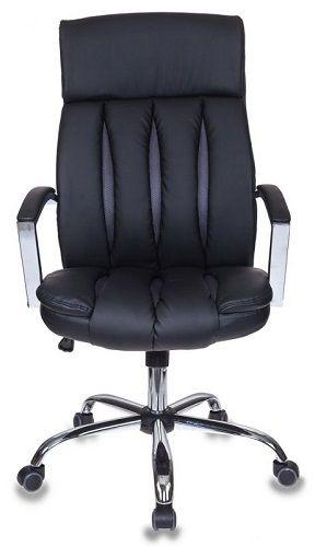 Фото - Кресло Бюрократ T-8000SL черное, искусственная кожа, крестовина хром кресло бюрократ ch 605 черное искусственная кожа крестовина металл
