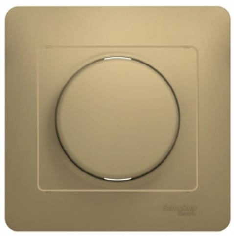 Светорегулятор Schneider Electric GSL000436 Glossa Титан (диммер) универсальный, 600Вт/ВА (в сборе с рамкой)