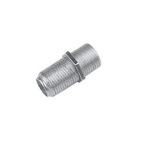 Переходник LAZSO APFF00 Соединитель коаксиального кабеля F-розетка - F-розетка. 1шт. Диапазон частот 0-1ГГц. Материал - латунь. Покрытие - никель(корп