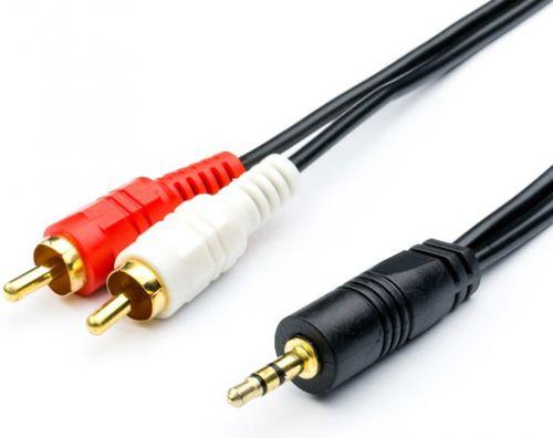 Кабель аудио Atcom AT0707 mini-Jack3.5(m) <=> 2RCA(m), 1.8 m, стерео, пакет
