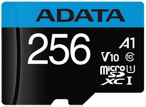 Карта памяти 256GB ADATA AUSDX256GUICL10A1 -RA1  MicroSDXC UHS-I Class10 A1 100/25MB/s