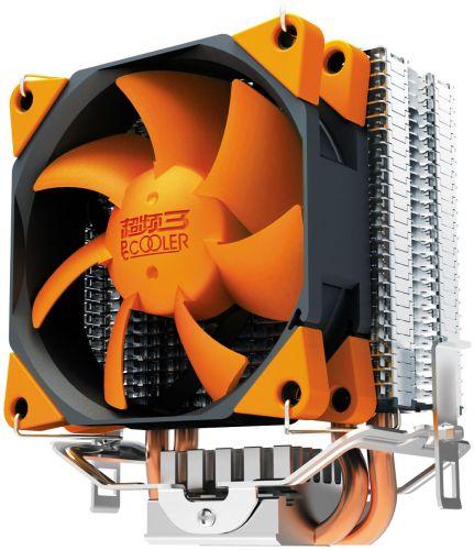 Кулер PCCooler S88 S775/115X/AM2/AM3/AM4/FM1/FM2 (TDP 98W, вент-р 80мм с PWM, 2 тепловые трубки 6мм, 1200-2000RPM, 20.5dBa, 20 - 32 CFM) Retail Color