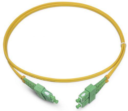 Патч-корд волоконно-оптический TopLAN DPC-TOP-652-SC/A-SC/A-0.5 дуплексный, SC/APC-SC/APC, SM, 0.5 м LSZH