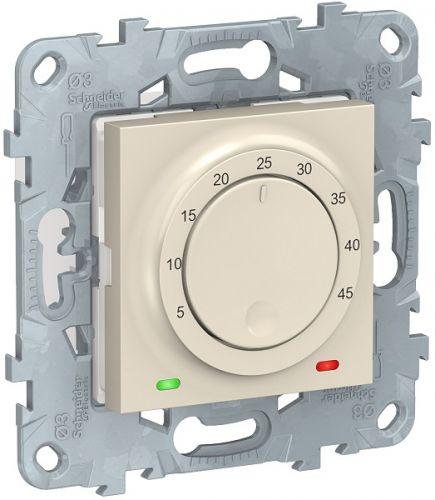 Термостат Schneider Electric NU550344 UnicaNew, беж, теплого пола, 10А, выносной термодатчик