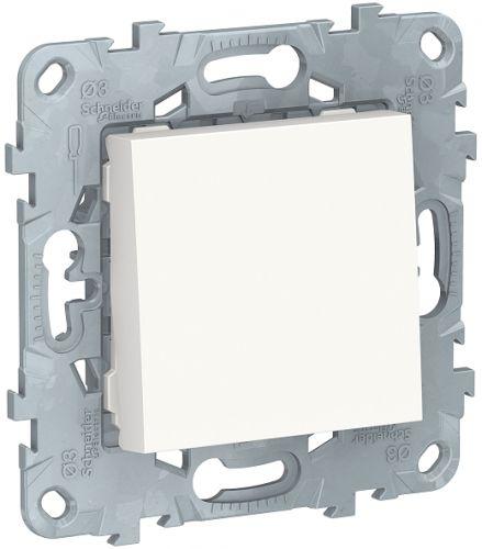 Фото - Выключатель Schneider Electric NU520618 UnicaNew, белый, 1-клавишный, кнопочный, сх. 1, 10A выключатель schneider electric nu520118 unicanew белый 1 клавишный сх 1 10 ax 250в