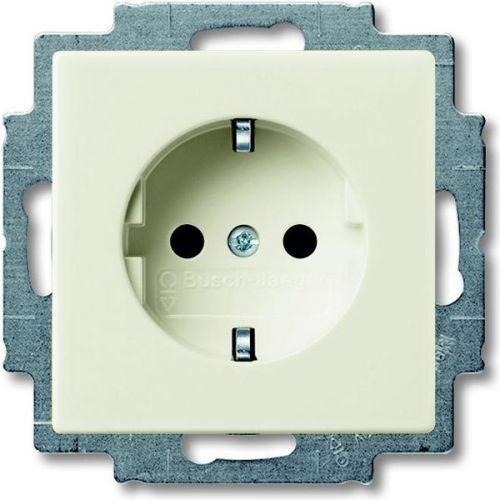 Розетка ABB 2013-0-5279 2CKA002013A5279 BASIC 55 с заземлением, со шторкой, в рамку, 16А, 250В, IP20 (бежевая)