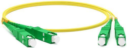 Патч-корд волоконно-оптический TopLAN DPC-TOP-657A1-SC/A-SC/A-35 дуплексный, SC/APC-SC/APC, SM, 35.0м