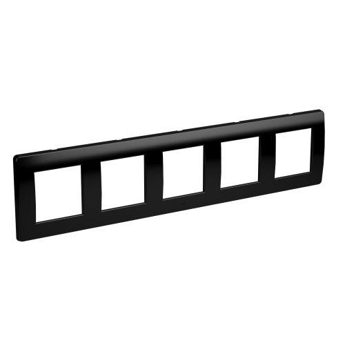 Рамка DKC 75015B на 2+2+2+2+2 модуля (пятиместная), черная, Brava ������������������ ���������� 2 ��������������