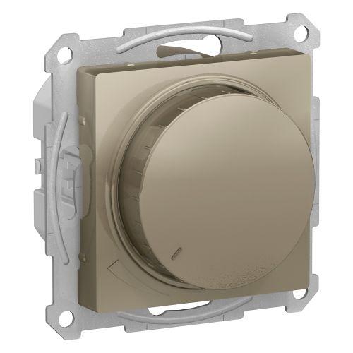 Светорегулятор Schneider Electric ATN000534 AtlasDesign, диммер, поворотно-нажимной, 315Вт, механизм, шампань