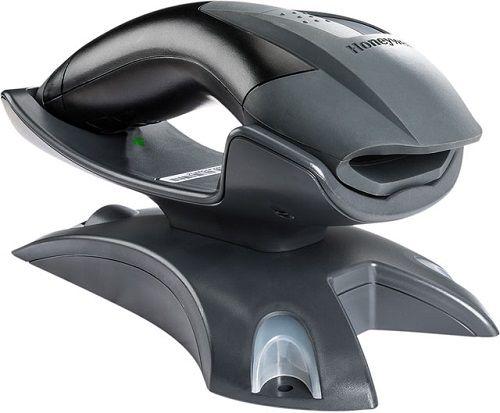 Сканер штрих-кодов Honeywell 1202G-2USB-5BF (беспроводной лазерный, без аккумулятора,черный) 1202g, зарядно-коммуникационная баз, кабель USB