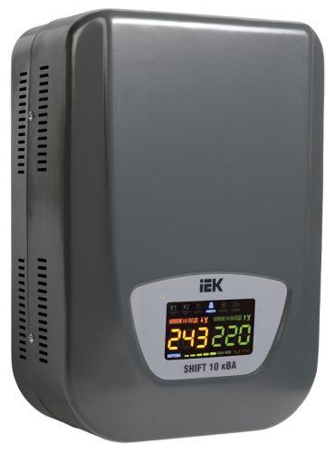 Стабилизатор IEK IVS12-1-10000 напряжения, Shift, 10кВА, IP20, навесной, серый