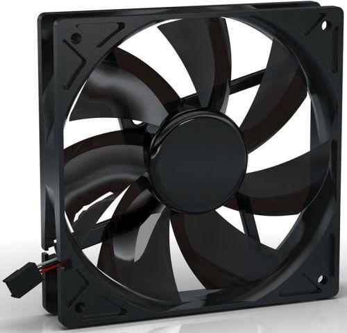 Вентилятор для корпуса Noiseblocker BlackSilentPRO PL-1 120х120х25 мм, 900 об/мин, 12 dBA, 3 Pin вентилятор noiseblocker blacksilentpro pr 1 60mm 1800rpm