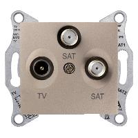Розетка Schneider Electric SDN3502168 Sedna RTV/SAT/SAT оконечная (титан)